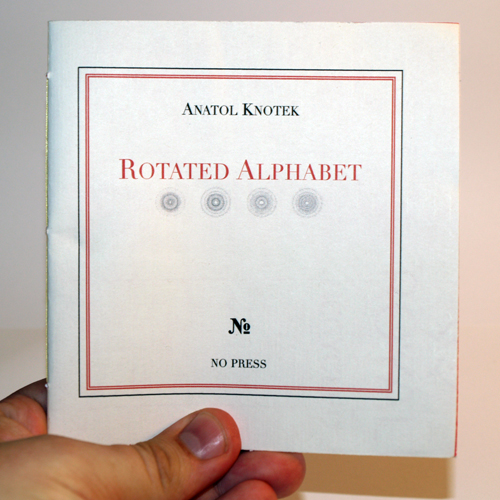 rotated alphabet chapbook