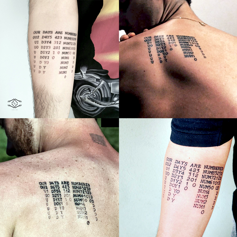 our days are numbered (tattoos)